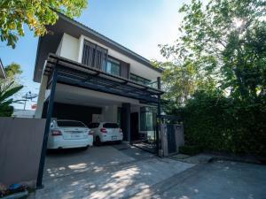 For SaleHouseOnnut, Udomsuk : Detached house for sale  : Manthana Onnut Wongwan3, Area 93.1 Square Wa,FullyFurnished.  Near Suvarnabhumi Airport 📌Special price+++