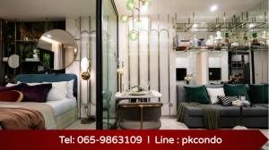 For SaleCondoSamrong, Samut Prakan : 💥Hot Deal Condo Aspire Erawan Prime 0 meters to BTS⚡ 1 Bed Plus, only 2.45 million baht 📞Tel: 065-9863109