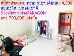For SaleCondoRatchathewi,Phayathai : Investors come here Condo in the heart of the city 5 minutes from PARAGON Urupong. Condo can buy by yourself. A very good investment. Sale with tenants 790,000