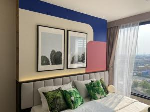 For SaleCondoBangna, Lasalle, Bearing : 1 bed, large size, 39.5 sq m. 💥 a little ten thousand installments 💥 Suitable for people who like a spacious living room. Can put a big screen TV Plenty of storage space