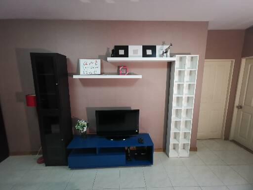 For RentCondoRattanathibet, Sanambinna : For rent Supalai Khae Rai Ngamwongwan, ready to move in, fully furnished, large room, 51 sqm., Cheap