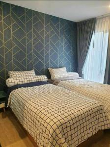 For RentCondoRangsit, Patumtani : ให้เช่า Kave Town Space ห้องสวย ครัวแยก เตียงคู่ ใกล้ม.กรุงเทพ