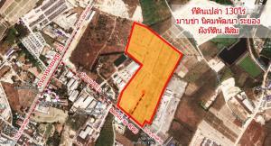 For SaleLandRayong : 130 rai of empty land, reclamation, next to 4040 Road, Mapkha Subdistrict, Nikhom Phatthana District, Rayong Province