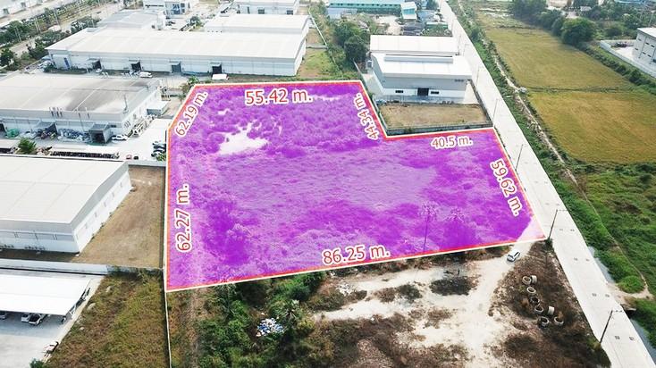 For SaleLandPattaya, Bangsaen, Chonburi : Land for sale in Amata Nakorn Industrial Estate, Phase 8, size 6-0-80 rai, Nongkakha Subdistrict, Phanthong District, Chonburi Province