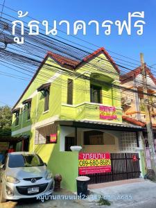 For SaleHouseRama5, Ratchapruek, Bangkruai : Suan Non Village 2, Nonthaburi, corner of Main Road, renovated, 3 bedrooms, 2 bathrooms, 17.3 square wah, larger than other houses.