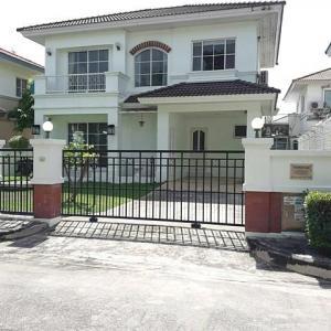 For RentHouseLadkrabang, Suwannaphum Airport : House for rent near Mega Bangna Manthana Onnut-Wongwaen 1 Fully Furnished