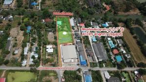 For SaleLandRangsit, Patumtani : Land with buildings 2-2-7 rai Lam Sai, Lam Luk Ka, Pathum Thani