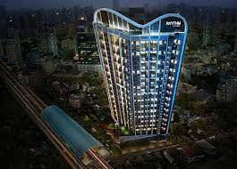 For SaleCondoOnnut, Udomsuk : Beautiful room, Sky Kitchen, unblock view, fully furnished, ready to drag your luggage in. @Rhythm Sukhumvit 44/1, call 0825425536.