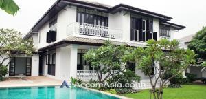 For RentHouseOnnut, Udomsuk : Big Garden, Private Pool | House 5 Bedroom For Rent BTS Phra khanong in Sukhumvit Bangkok ( 94169 )
