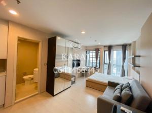 For RentCondoRama9, RCA, Petchaburi : Rhythm asoke 2 for rent 29 sqm Fl. 20 Beautiful city view 11,000  THB fully furnished View K.Bee 064146-6445 (R5709)