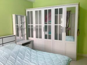 For SaleCondoBangna, Lasalle, Bearing : City Home Srinakarin Condo for sale near BTS Sikarin Hospital, 2nd floor.