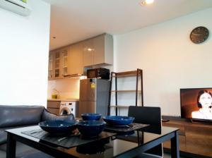 For RentCondoRama9, RCA, Petchaburi : Condo for rent, beautiful room, ready to move in Electrical appliances A SPACE ID Asoke-Ratchada 33.42 sq m. Ready to visit.
