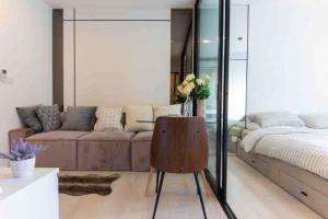 For RentCondoRama9, RCA, Petchaburi : Beautiful time, good price 🔥 Life Asoke Petchburi, 1 bed 29 sqm., Ready to move in. Complete electrical appliances 095-249-7892