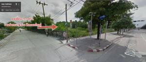 For SaleLandRamkhamhaeng Nida, Seri Thai : Land for sale on the main road. Beautiful corner plot