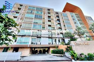 For SaleCondoRama9, RCA, Petchaburi : Condo for sale, Veranda Residence, studio room with furniture, Phet Rama Road