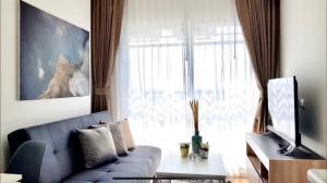 For RentCondoSamrong, Samut Prakan : (Very nice room on the cover / Washing Machine) Condo for rent, Notting Hill Sukhumvit-Praksa, near BTS Praksa, 700M, complete with ready.