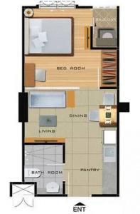 For SaleCondoBang Sue, Wong Sawang : Rich Park Condo 2 @ Tao Poon Interchange, size 30.17 sq m, 12A floor, 410/292
