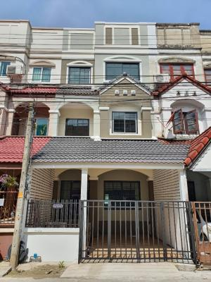 For SaleTownhouseRama5, Ratchapruek, Bangkruai : 3-storey townhome for sale, Siriwan 2, Chao Phraya market Bang Kruai Sai Noi, width 5 meters