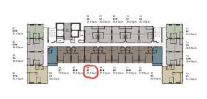 Sale DownCondoRangsit, Patumtani : Sale down payment Common TU garden view 1 bedroom 9th floor east.