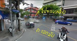 For RentLandSukhumvit, Asoke, Thonglor : TR02 Land for rent at the beginning of Soi Ekamai 22, area 441 square wah, good location.