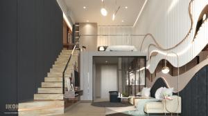 Sale DownCondoOnnut, Udomsuk : Sale down payment 200,000 IKON Udomsuk Condo, Loft room, 8th floor, pool view.