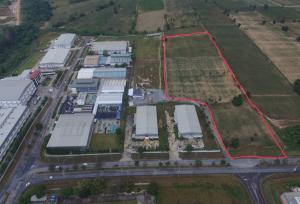 For SaleLandPattaya, Bangsaen, Chonburi : Beautiful land for sale, Bo Win Industrial Estate, 22 rai, in and out in many ways, purple pattern