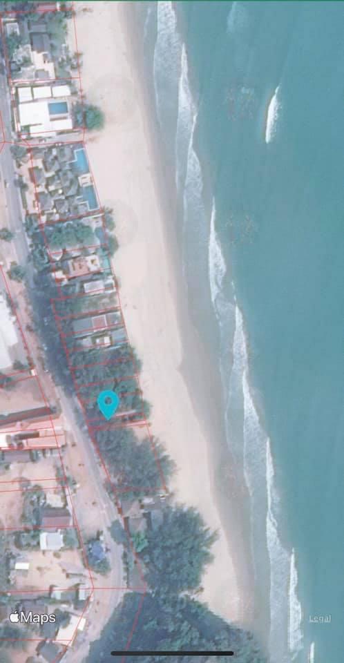 For SaleLandHua Hin, Prachuap Khiri Khan, Pran Buri : Land for sale front beach 1 step away from the beach rare item