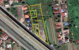 For SaleLandPinklao, Charansanitwong : Land for sale 3 rai on the road along the Taling Chan railway. Near Ratchaprue Road (next to property)