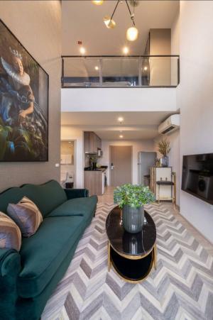 For SaleCondoBangna, Lasalle, Bearing : ขาย Duplex ไอดีโอ โมบิ อีสต์พอยท์ ขนาด 50 ตร.ม.  เพียง 5.1 ล้านบาท ห้องเพดานสูง 5.6 เมตร วิวสระสวยมากๆ