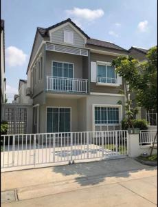 For RentHouseBangna, Lasalle, Bearing : For rent, The Village Townhome, detached house style Tel: 094-3546541 Line: @luckhome Code: LH00171