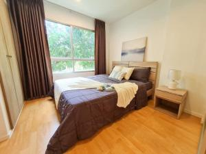 For SaleCondoOnnut, Udomsuk : Quick sale! Condo, garden view, minimalist style, Condo Lumpini Ville On Nut 46 (S1955)
