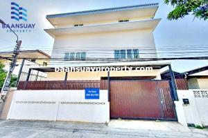For RentHouseRama5, Ratchapruek, Bangkruai : 3 storey house for rent, area 75 sq m, Soi Tiwanon, near Big C Tiwanon and Big C Rattanathibet