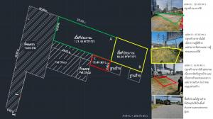 For RentLandChengwatana, Muangthong : Land for rent on Prachachuen Road, along the canal, Nonthaburi province.