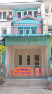 For SaleTownhouseBang kae, Phetkasem : sale ++ 3-storey townhome, Thanathong City Village, Phetkasem 69, near the guardhouse, near the market, the best price.