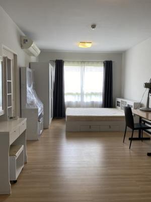 For RentCondoRattanathibet, Sanambinna : For rent, Plum Condo Samakkhi, corner room, size 28 sqm., Price 5000 baht, including common fees