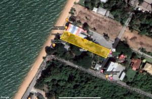 For SaleLandPattaya, Bangsaen, Chonburi : Land for sale on the sea, Na Jomtien, mermaid beach is a natural beach 2 plots for sale cheap.