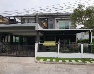 For RentHouseNawamin, Ramindra : For Rent 2-storey house for rent, The Centro Watcharapol village, beautiful house, 5 air conditioners, fully furnished, fully furnished, living only Can support animals