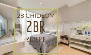 For SaleCondoWitthayu,Ploenchit  ,Langsuan : 28 Chidlom 1Bed 11.99MB// 2Bed 21.36MB ราคาดีมาก!! 📲Tel/Line: K.Bo 094-1624424