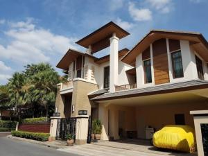 For RentHouseOnnut, Udomsuk : Rental / Selling : Single House with Private Pool in Prakanong , 4 Bed 5 Bath , 3 Car Park , 110 saw