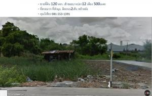 For SaleLandSamrong, Samut Prakan : ขายที่ดิน 120 ตรว ที่สวยหัวมุม เทพารักษ์ บางพลี เข้าซ.บางปลา12 เพียง500ม. เหมาะทั้งซื้ออยู่และเกร็งกำไร ราคาคุยกันได้ครับ