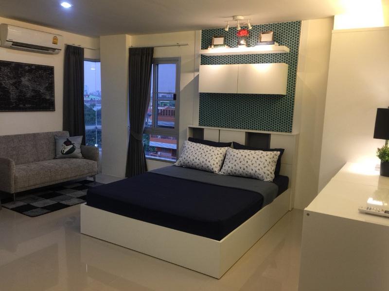 For RentCondoMin Buri, Romklao : Asakan City Ramkhamhaeng (23-26 sq.m) @Lotus Sukhaphiban 3, Facing East, Fully furnished