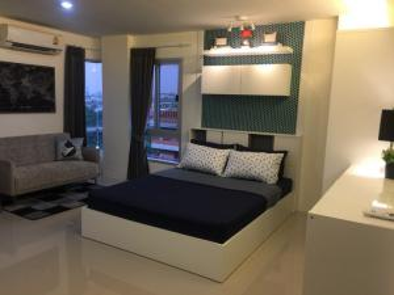 For RentCondoRamkhamhaeng,Min Buri, Romklao : Asakan City Ramkhamhaeng (23-26 sq.m) @Lotus Sukhaphiban 3, Facing East, Fully furnished