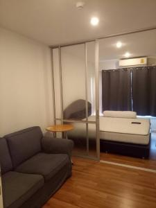 For RentCondoLadkrabang, Suwannaphum Airport : Wide room, light price, V Condo Ladkrabang rental (V condo Ladkrabang), Chalong Krung Road, near Ladkrabang Techno In front of Lad Krabang Industrial Estate, high floor 27 sqm #, with washing machine ready