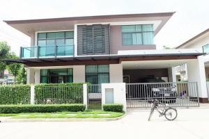 For RentHousePattanakan, Srinakarin : House for rent, Setthasiri On Nut - Srinakarin, size 85 sq.wa., 4 bedrooms, 3 bathrooms, T.091-091-0901 Nook.