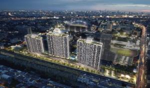 Sale DownCondoRamkhamhaeng, Hua Mak : Sales down Supalai Veranda Ramkhamhaeng Room 59 sq m price 559,100 baht
