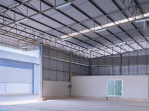 For RentWarehouseLadkrabang, Suwannaphum Airport : Warehouse for rent, size 480 sq m. To 960 sq m., Rural Development Road 3, Lat Krabang, price 120 baht per sq m.