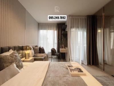 For RentCondoRama9, RCA, Petchaburi : 🔥ห้องแต่งสวยต่อรองได้🔥 Life Asoke Rama9 26 Sqm. ห้องแต่งพึ่งเสร็จ น่าอยู่ เครื่องใช้ไฟฟ้าครบ พร้อมอยู่ 095-249-7892