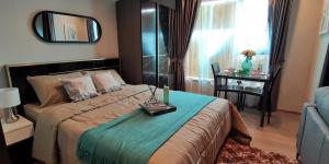 เช่าคอนโดพระราม 9 เพชรบุรีตัดใหม่ : 🔥ห้องใหม่ 28 ตรม. 12K 🔥Life Asoke Rama9 กั้นครัว ชั้นสูง ห้องสวย เครื่องใช้ไฟฟ้าครบ 095-249-7892