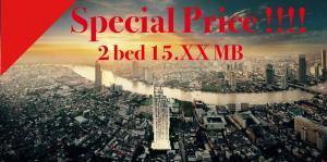 ขายคอนโดสาทร นราธิวาส : 🔥Sprcial Price !!🔥📌RHYTHM Charoenkrung Pavillion 2 Bed Size 102 Sq.m. 15.XX MB.🔥