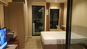 เช่าคอนโดสำโรง สมุทรปราการ : For Rent Condo at BTS Samutprakarn - KnightsBridge Sky River Ocean ชั้นสูง วิวสวย มีเครื่องซักผ้า